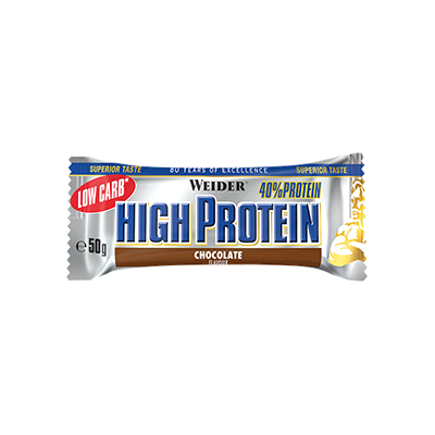 40% Prot. Low Carb Bar Chocolate - Weider - 24u. x 50 g.