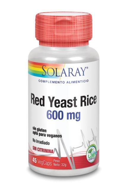 Red Yeast Rice 600Mg 45 Vcaps