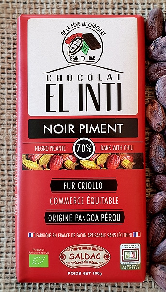 Chocolate Picante 70% Cacao 100 Gr