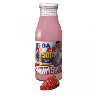Batidos Megapower Drink Fresa - NutriSport - 12 botellas 500 ml.