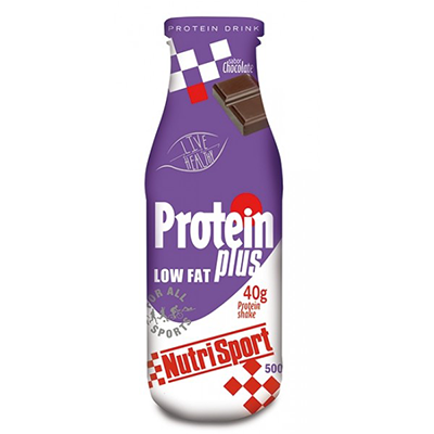 Batidos Protein Plus Drink Chocolate - NutriSport - 12 botellas 500 ml.