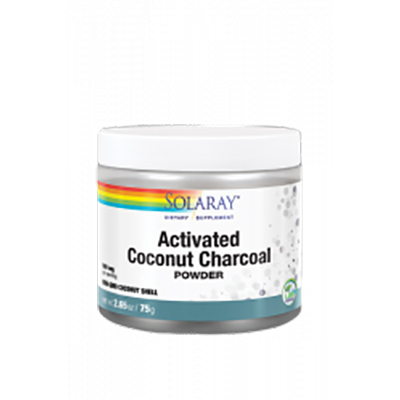 Charcoal Coconut Activated (Carbon Activo) - Solaray - 75 gramos