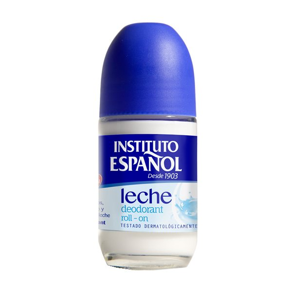 Deo Roll On Leche - Instituto Español - 75 ml.