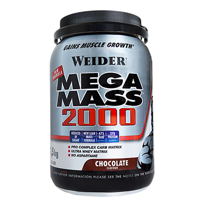 Gainer N F Mega Mass 2000 Chocolate - Weider - 1,5 kg.