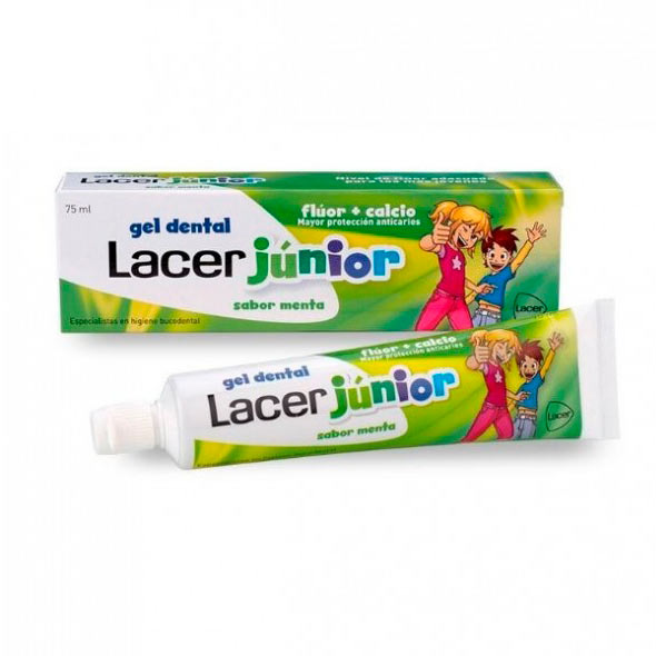 Gel Dental Junior Menta - Lacer - 75 ml.