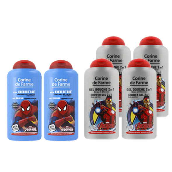 Gel Ducha 2 en 1 Spiderman/Avenge - Corine de Farme - 250 ml.