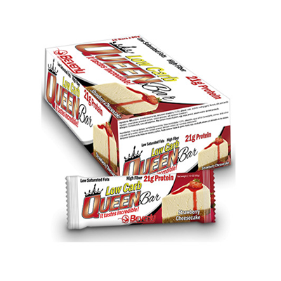 Low Carb Queen Bar - 60 gr. Chocolate Cookies & Cream (21,2gr prot / bar) - Beverly - 15 barritas