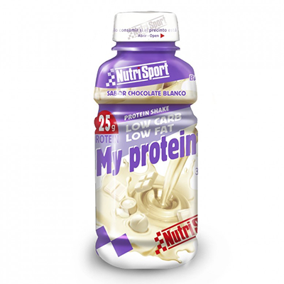My Protein Choco Blanco - NutriSport - 12 botellas de 330 ml.