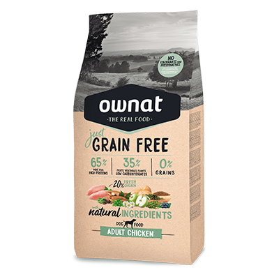 Ownat Perro GF Just Adult Chicken - Ownat - 14 kg.