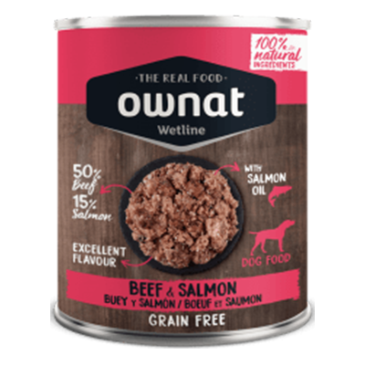 Ownat Perro Wetline Beef And Salmon - Ownat - 6 X 400 grs.