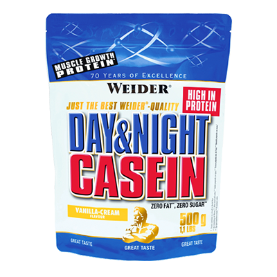 Proteínas Day & Night Casein Vainilla - Weider - 500 g.