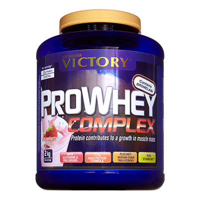 Proteínas Pro Whey Complex Fresa - Victory - 2 kg.