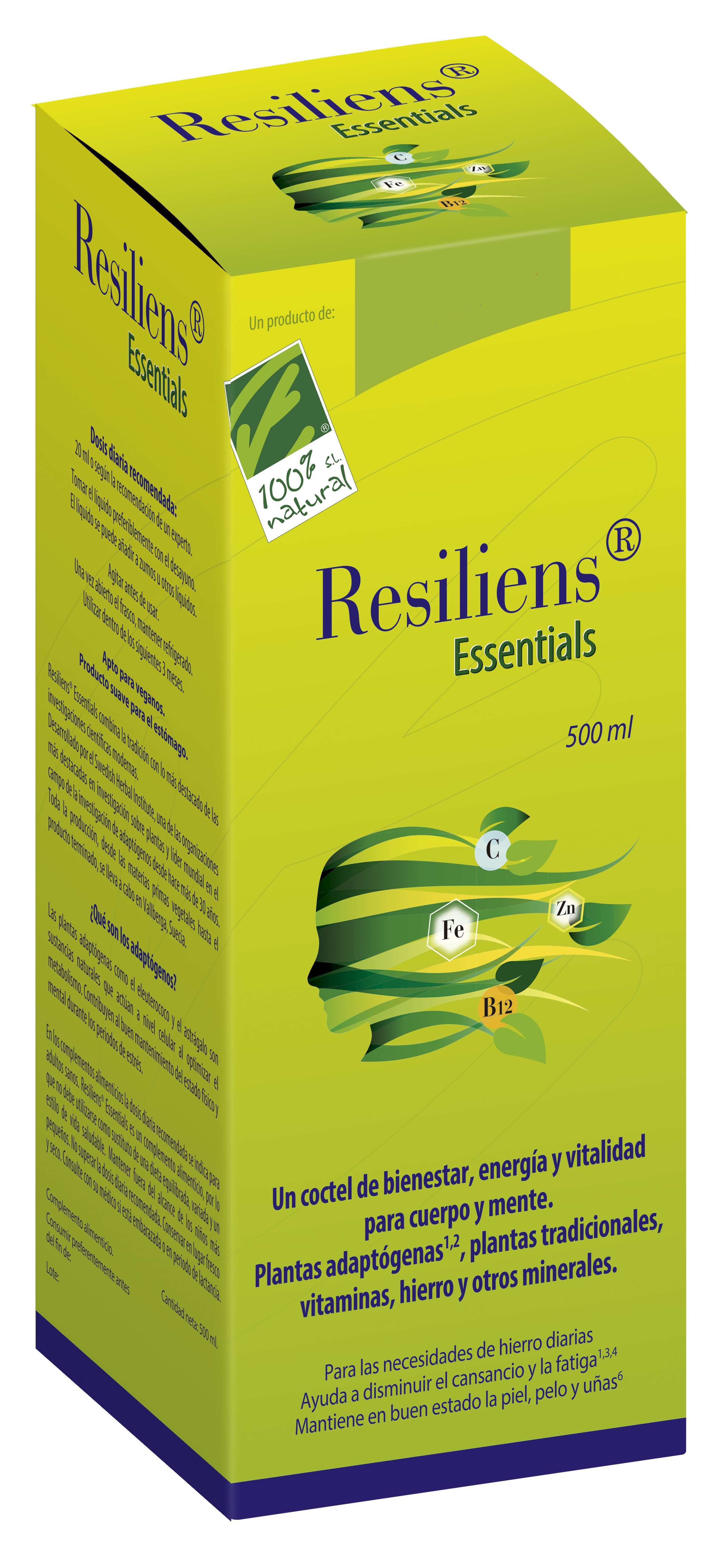 Resiliens Essentials - 100% Natural - 500 Ml.