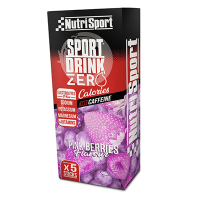 Sportdrink Zero Pink Berries - NutriSport - 5 sticks