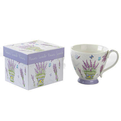 Taza Porcelana Romántica + caja - Tea Shop Geoherbal - 450 ml.