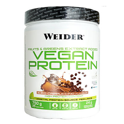Vegan Protein Capuccino Iced - Weider - 750 g.