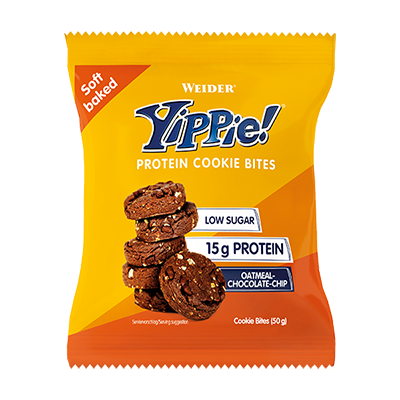 Yippie Cookie Bites Oatmeal-Chocolate Chip - Weider - 6u. x 50 g.